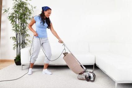 vacuuming Flea Control