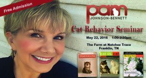 Pam to speak at cat behavior seminar